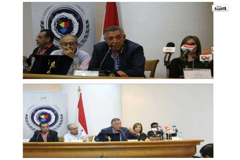 وزير الثقافة المصرية فى زيارة لبلاد السعادة بمسرح السلام