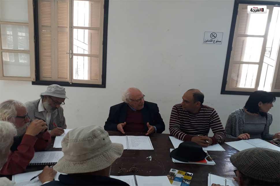 بالصور: الاستعدادات الاولوية للعرض المسرحي التونسي العراقي