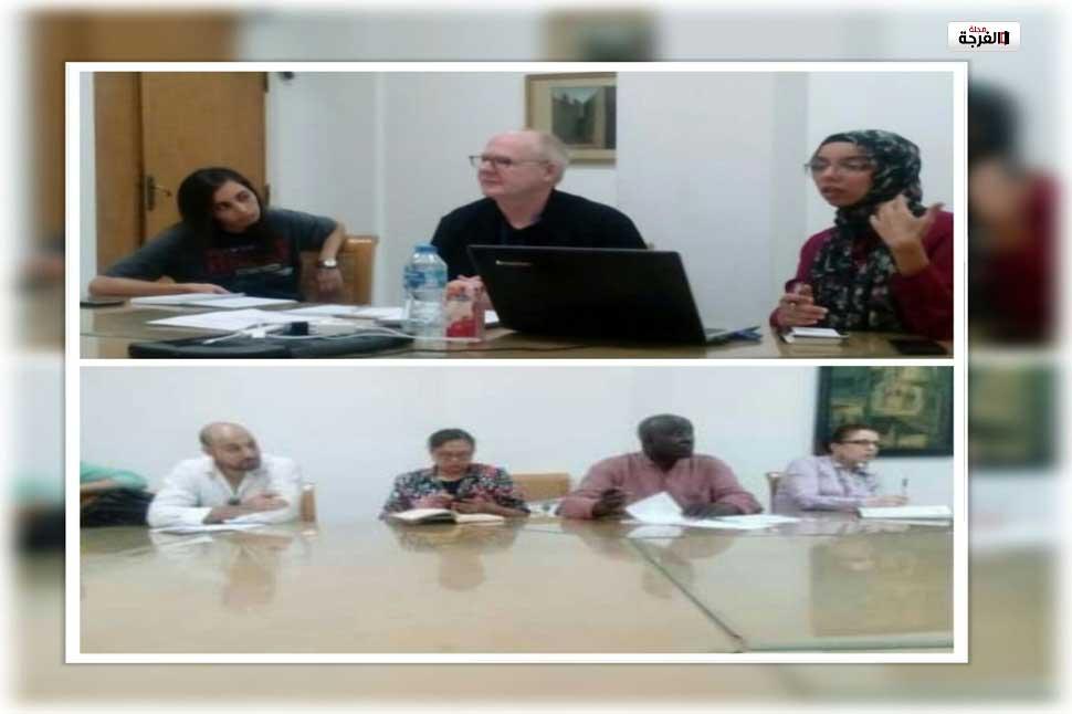 بمصر: بيتر ايكرسول يشرح للمتدربين خطة عمل ورشة الدراماتورج / احمد زيدان
