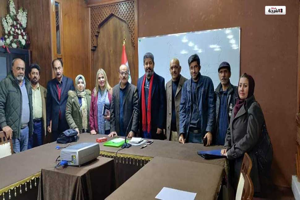 المسرحيون العراقيون يفتتحون قاعة د. رياض المرسومي وهارف يقيم ورشة لكتابة النص المسرحي الموجه للطفل/ محمد سامي (العراق)