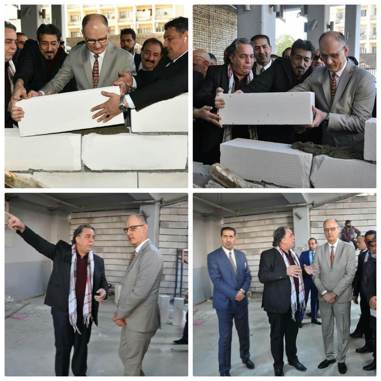 بالعراق: (الحمداني) يضع حجر الأساس لمسرح بغداد وسط العاصمة/ محمد سامي