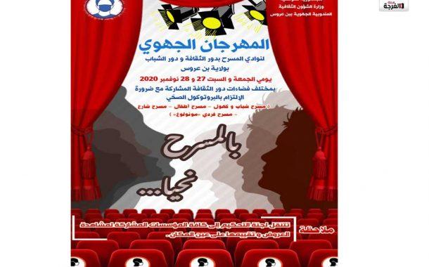 بتونس: البرمجة الخاصة بالمهرجان الجهوي للمسرح بدور الثقافة ودور الشباب بولاية بن عروس