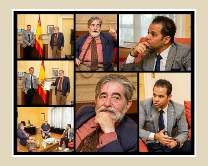 بمصر: مدير معهد ثربانتس الاسباني يستقبل رئيس مهرجان شرم الشيخ الدولي للمسرح للتعاون